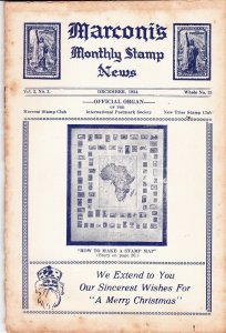3 Marconi's Monthly Stamp News Stamp Collecting Magazine