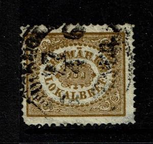 Sweden SC# LX2, Used, very sm shallow side perf thin, pulled corner perf - S1222