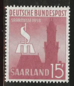 Saar Scott 313 MNH** 1958 Saarbrucken fair stamp
