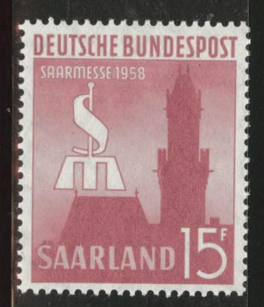 Saar Scott 313 MNH** 1958 Saarbrucken fair stamp