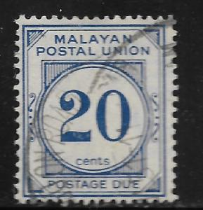 MALAYA, J27, USED, POSTAGE DUE STAMPS