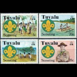 TUVALU 1977 - Scott# 50-3 Scouting Set of 4 NH