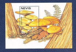 NEVIS - Scott 1029 -  FVF MNH S/S - Mushrooms - 1997