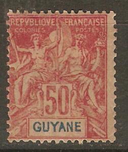 French Guiana 46 Cer 40 MH Avg 1892 SCV $32.50