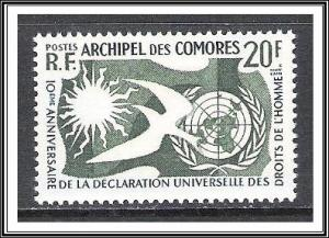 Comoro Islands #44 Human Rights Issue MNH