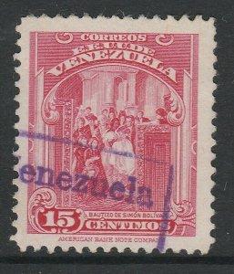 Venezuela 1947-48 15c used South America A4P53F41