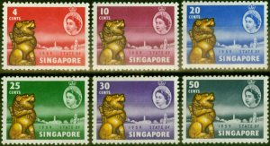 Singapore 1959 New Constitution Set of 6 SG53-58 Fine Mtd Mint