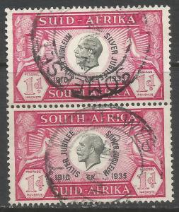 SOUTH AFRICA 69 VFU PAIR Z7474-1