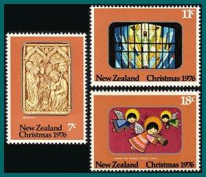 New Zealand 1976 Christmas, MNH  #604-607,SG1129-SG1131