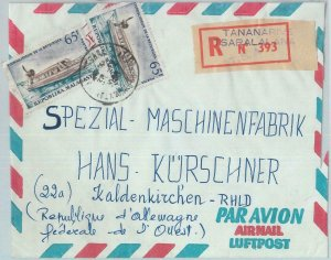 81094 - MADAGASCAR - POSTAL HISTORY - REGISTERED COVER to GERMANY 1968 - BOATS