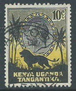 Kenya, Uganda & Tanganyika, Sc #48, 10c Used
