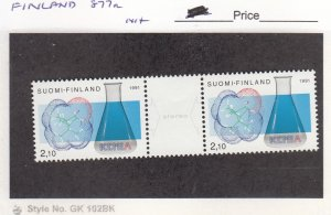 J25981  jlstamps 1991 finland set pair mnh #877a designs , all checked