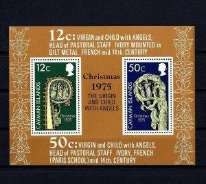 CAYMAN IS - 1975 - CHRISTMAS - VIRGIN & CHILD - 14th CENTURY - MINT MNH S/SHEET!