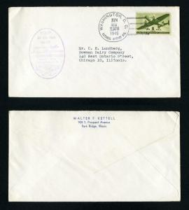 First Jet Airmail Flight from Schenectedy, NY to Washington, DC Dated 6-22-1946