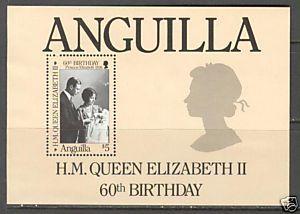 ANGUILLA Sc# 677 MNH FVF SS Queen Elizabeth II
