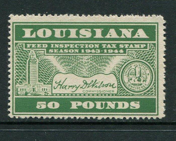 Louisiana Feed Tax #FE90 MNH
