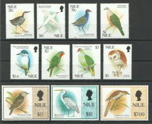 J252 1992,1993 NIUE FAUNA BIRDS !!! MICHEL 68 EURO BIG SET MNH