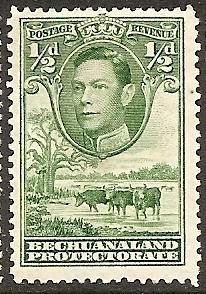 Bechuanaland Prot. 124 Mint OG 1938 1/2p green Defin. CV $2.