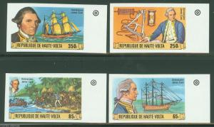 UPPER VOLTA CAPTAIN JAMES COOK   IMPERFORATED SET SC#474/77  MINT NH