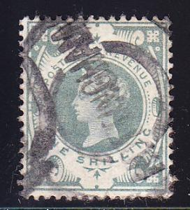 Great Britain 1887 QV 1sh.green Jubilee VF/Used(o)