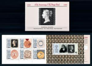 [68444] Marshall Islands 1990 Booklet 150th Anniversary Penny Black  MNH