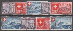Switzerland #247-55 F-VF Used CV $22.00 (B11430)