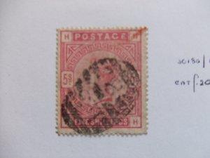 QV 1883 5s carmine SG180 CV £200 #7