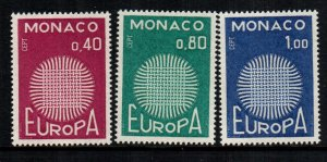Monaco 768 - 770  MNH cat $ 7.00