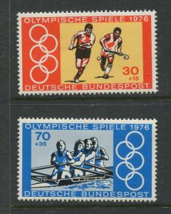 Germany -Scott B532a,b - General Issue-1976 - MNH - Set of 2 Stamps
