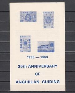 Anguilla, Scott cat. 40-43. Girl Scout Anniversary Postal Bulletin. ^