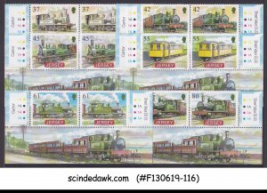 JERSEY - 2009 RAILWAY SERIES III / TRAINS LOCOMOTIVES 6V PAIR TRAFFIC LIGHT MNH