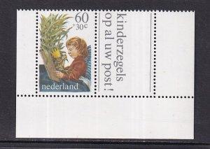 Netherlands  #B567a  1980  MNH child welfare   combination from sheet