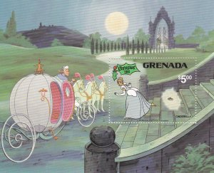 Grenada # 1072, Disney Characters Cinderella, Souvenir Sheet, NH,