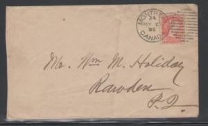 Canada Sc 41 on 1895 Montreal cover to Rowdon, QC