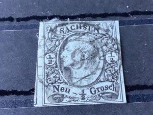 Saxony 1855 Grid Number 9  for Zwickau  Cancel Stamp 57175