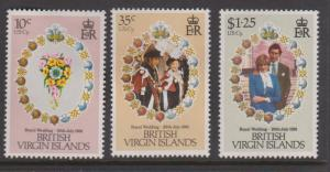 British Virgin Islands Sc#406-408 MH