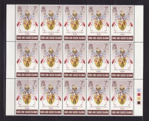 Turks and Caicos Islands 200 Wholesale MNH Coats of Arms