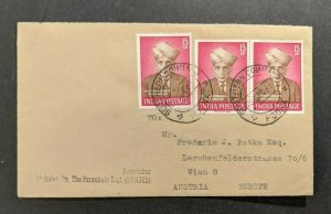 1961 1st Independent Battalion Parachute Regiment India Cover to Vienna Austria