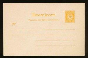 NORWAY Mi. P48 POSTAL STATIONERY POSTAL CARD 3o ORANGE