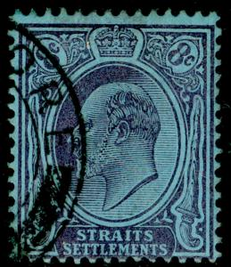 MALAYSIA - Staits Settlements SG126, 8c purple/blue, FINE used. WMK CA.
