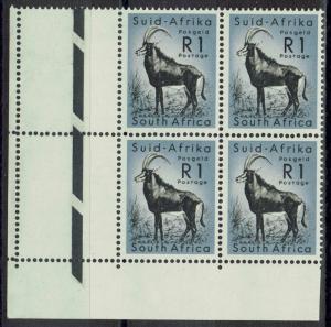 SOUTH AFRICA 1961 BUCK R1 MNH ** BLOCK