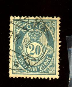 Norway #44B UseD F-VF Cat $30