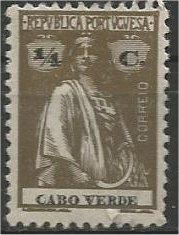 CAPE VERDE, 1914, used 1/4r, Ceres Scott 144