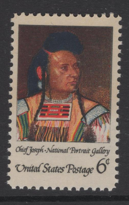 US 1968 Chief Joseph 6c Stamp Scott 1364 MNH