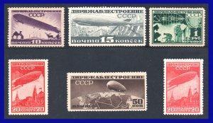 1931 - Rusia - Sc.  C 20 - C 25 - MNH - Lujo - centrajes perfectos - RU- 66 - 01