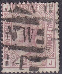 Great Britain #67 Plate 14 F-VF Used  CV $60.00 (A19489)