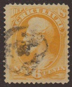 MALACK O4 F/VF, nice cancel, rare stamp w6667