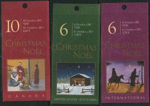 Canada 2000 Sealed Christmas Booklets USC #BK233a, BK234a and BK235a - The 3 Dif