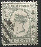 LABUAN, 1892, used 16c, Queen Victoria  Scott 38