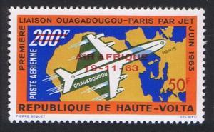Upper Volta First Anniversary of 'Air Afrique' 1963 MNH SG#136